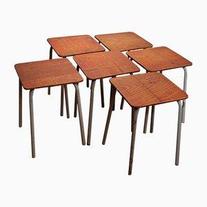 Sgabelli Bauhaus da laboratorio, set di 6