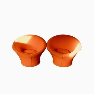 Poltrone Mushroom vintage di Pierre Paulin per Artifort, set di 2