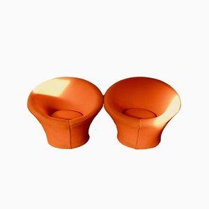 Vintage Mushroom Lounge Chairs by Pierre Paulin for Artifort, Set of 2