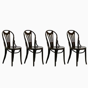 Art Nouveau Chairs, 1920s, Set of 4