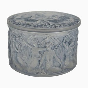 Dekorative Vintage Box mit tanzenden griechischen Figuren von René Lalique