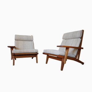 Vintage Model GE 375 Armchairs by Hans J. Wegner for Getama, Set of 2