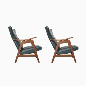 Dutch Wingback Chairs by Louis Van Teeffelen for Webe, 1960s, Set of 2