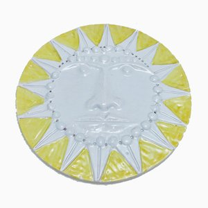Large Ceramic Sun by Enzo Bioli for Il Picchio, 1960s