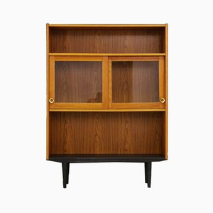Vintage Danish Glass Fronted Bookcase