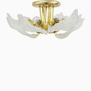 Lámpara de araña vintage de cristal de Murano de Novaresi