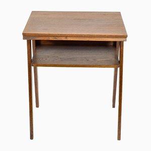 Tavolino in legno di quercia dipinto, anni '70