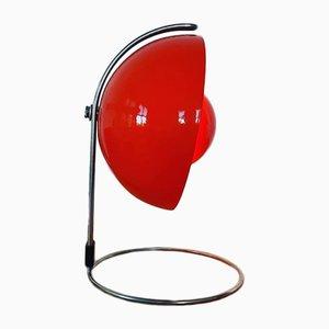 Lampe de Bureau VP4 Flowerpot Rouge par Verner Panton pour Louis Poulsen, 1968