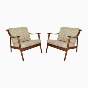 Mid-Century Danish Teak Armchairs, Set of 2