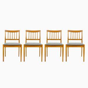 Chaises en Chêne Vintage, 1970s, Set de 4