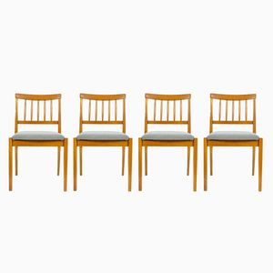 Vintage Oak Chairs, 1970s, Set of 4