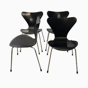 Sedie della serie 7 vintage di Arne Jacobsen per Fritz Hansen, set di 4