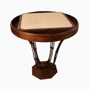 Mesa de juegos con pedestal de Louis Majorelle, años 20