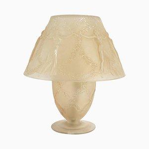Lampada vintage con danzatrici di René Lalique