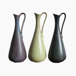 Vases par Gunnar Nylund pour Rörstrand, 1950s, Set de 3