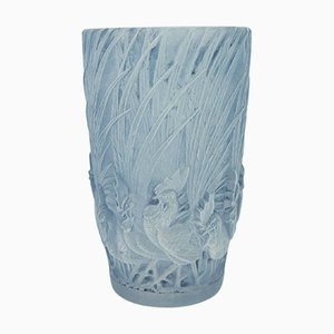 Vintage Roosters & Feathers Vase by Lalique René