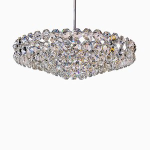 Large Chromed Chandelier from Bakalowits & Söhne, 1960s