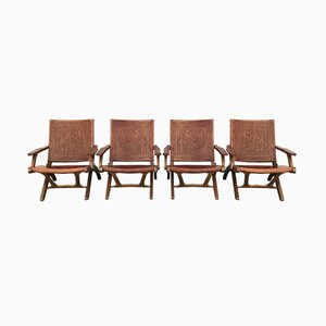 Folding Chairs by Angel I. Pazmino for Muebles de Estilo, 1960s, Set of 4