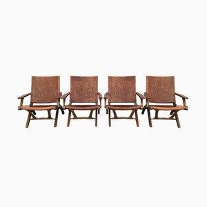 Folding Chairs by Angel I. Pazmino for Muebles de Estilo, 1960s, Set of 4