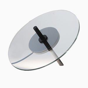 Lámpara de escritorio escultural de vidrio y aluminio de Daniel Rybakken para J. HILL's Standard