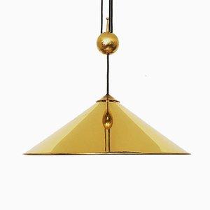 Lámpara colgante Keo grande pulida de Florian Schulz, años 60