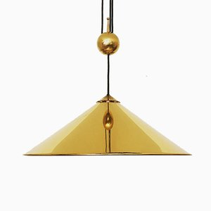 Large Polished Keos Pendant Lamp by Florian Schulz, 1960s