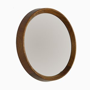 Crystal Glass and Oak Wood Mirror, 1960s