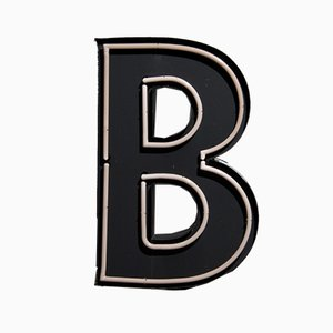Large Vintage Advertising Letter B