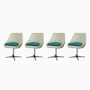 Vintage Swivel Armchairs, Set of 4