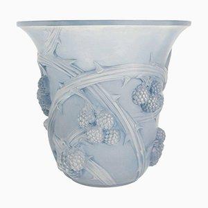 Vintage Vase mit Weinreben-Relief von René Lalique