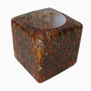 Lampada da tavolo cubica in vetro multicolore di Peill & Putzler