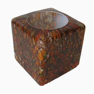 Lampe de Bureau Vintage Cube Multi-Colore en Verre de Peill & Putzler