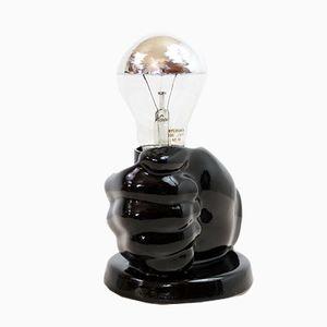 Vintage Keramiklampe in Hand-Optik