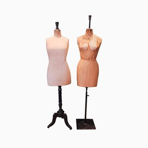 Vintage Dressmakers' Mannequins from Stockman, Set of 2