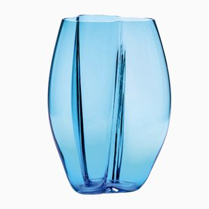 Large Blue Petalo Vase by Alessandro Mendini for Purho