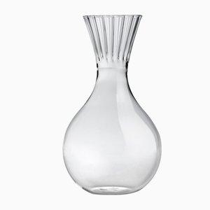 Hohe durchsichtige Routine Karaffe aus geblasenem Glas von Matteo Cibic für Paola C., 2018