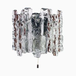 Lampada da parete vintage in vetro smerigliato di J.T. Kalmar
