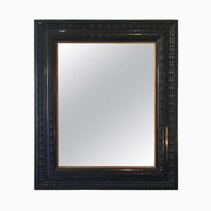 Großer antiker Spiegel mit gewelltem Rahmen im flämischen Stil