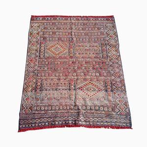 Vintage Moroccan Woven Silk Rug
