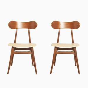 Dining Chairs by Louis van Teeffelen for WéBé, 1960s, Set of 2