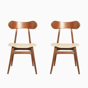 Esszimmerstühle von Louis van Teeffelen für WéBé, 1960er, 2er Set
