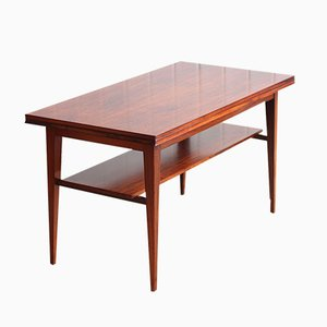 Vintage Danish Rosewood Extendable Metamorphic Coffee Table from Haslev