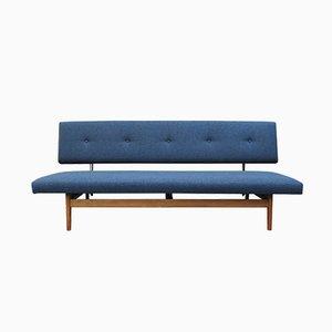 Sofá azul oscuro, años 60