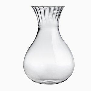 Caraffa bassa Routine in vetro soffiato trasparente di Matteo Cibic per Paola C., 2018
