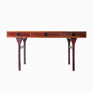 Vintage Rosewood Desk by Nanna Ditzel for Søren Willadsen, 1950s