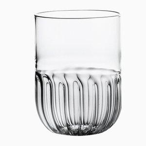 Vaso de agua Routine de vidrio soplado transparente de Matteo Cibic para Paola C., 2018