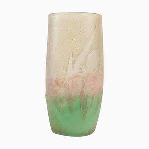 Antike Iris Vase von Daum Nancy