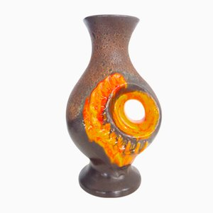 Brutalist Fat Lava Ceramic Vase by Walther Gerhardz, 1950s
