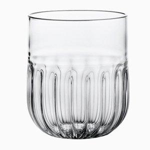 Bicchiere da vino Routine in vetro soffiato trasparente di Matteo Cibic per Paola C., 2018