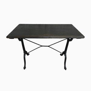 Table de Bistro Art Déco avec Plateau en Chêne